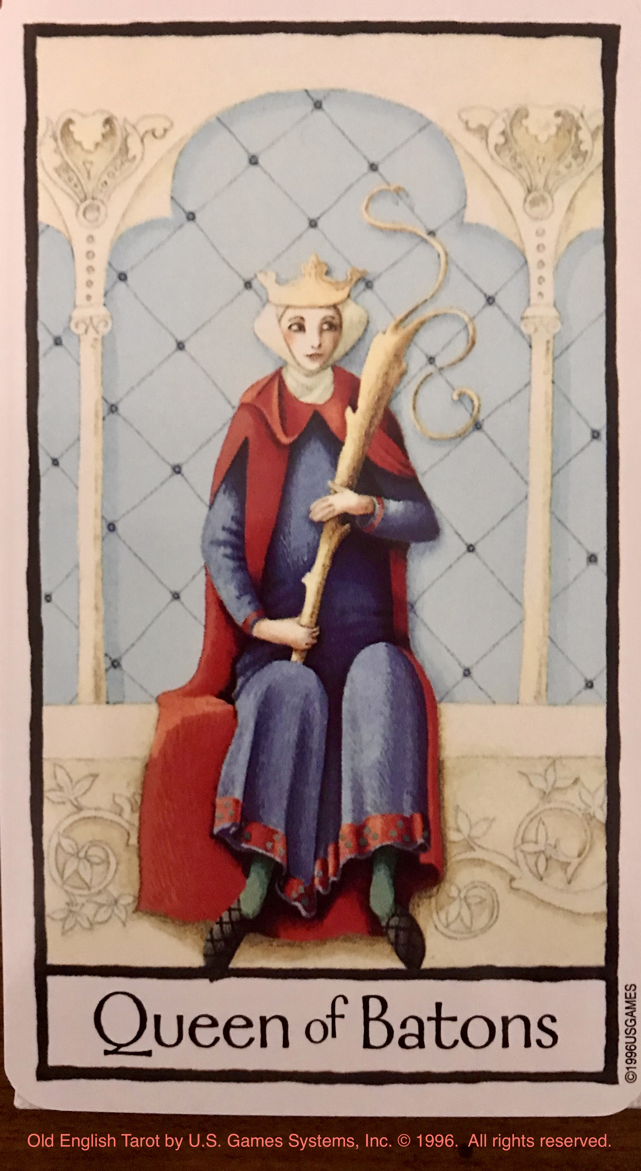 OLD ENGLISH TAROT: Queen of Batons | Susana K  Marsch